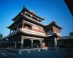 旅游景点0038,旅游景点,古代风景,三层楼 木楼 外形