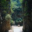 旅游景点0073,旅游景点,古代风景,岩缝 缝隙 通行
