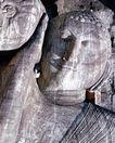 佛像雕刻0245,佛像雕刻,古代风景,石雕 斑痕 挡住