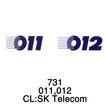 电话通信0011,电话通信,世界标识,001 012 数字