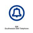 电话通信0029,电话通信,世界标识,铃铛 边框 Southweston