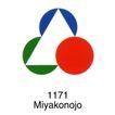 都市0015,都市,世界标识,Miyakonojo 红圆 三角形