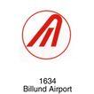 飞机场0010,飞机场,世界标识,Billund 1634 红边框