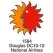 航空社0014,航空社,世界标识,太阳 半边脸 1584