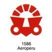 航空社0016,航空社,世界标识,Aeroperu 1586 红色图形