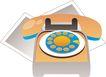 通讯设备0293,通讯设备,科技,电话 暗红色 小号的