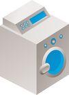 通讯设备0296,通讯设备,科技,洗衣机 白色的 里面蓝色