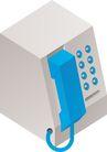 通讯设备0297,通讯设备,科技,电话机 蓝色的电话 机子是白色的