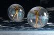 创意无限0060,创意无限,科技,悬空的气泡 两个人 金色小人