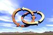 创意无限0062,创意无限,科技,箭头 圆圈 蓝天