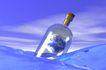 创意无限0063,创意无限,科技,海水 瓶子 漂浮