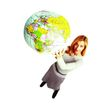 科技畅想0068,科技畅想,科技,女士 地球仪 地图
