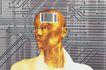 科技畅想0099,科技畅想,科技,人脑 集成电路 电子