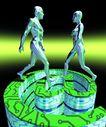 网路世界0017,网路世界,科技,相对 跨跃 行走