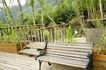 餐饮空间0030,餐饮空间,装饰,长椅 植物 护栏