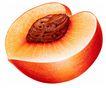 果脯0090,果脯,农业,桃子 一半 核心