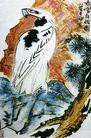 中国现代山水0171,中国现代山水,中国传统,山水画 老鹰 形象