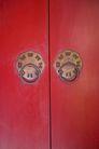 中国风0022,中国风,中国传统,朱门 红漆 铜环