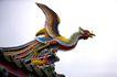 中国风0034,中国风,中国传统,凤凰 彩鸟 屋顶