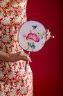 中国风0036,中国风,中国传统,圆扇 衣饰 布料