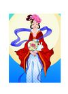 中秋0019,中秋,中国传统,抱兔 孤独 渡日