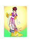 中秋0020,中秋,中国传统,常娥 仙子 圆月