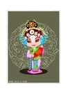 京剧脸谱0004,京剧脸谱,中国传统,旦角 含羞 手帕