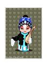 京剧脸谱0011,京剧脸谱,中国传统,拥抱 琵琶 歌女
