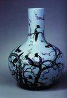 古典瓷器0123,古典瓷器,中国传统,鸟 鲜花 树枝 花瓶 收藏