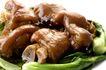新年0055,新年,中国传统,红烧猪蹄 鲜亮色泽 青菜