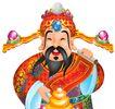 春节0130,春节,中国传统,报喜 财神 金元宝 神像 迷信