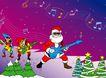 欢快节日0050,欢快节日,中国传统,弹吉他 音符 圣诞树