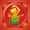 欢快节日0054,欢快节日,中国传统,过年 猴年到 可爱猴子