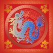欢快节日0057,欢快节日,中国传统,喜庆节日 龙年 蓝色身体