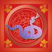 欢快节日0060,欢快节日,中国传统,蛇年 吐信子 身体盘起