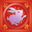 欢快节日0062,欢快节日,中国传统,白兔 属兔 年画