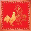 欢快节日0067,欢快节日,中国传统,公鸡 花朵 喜庆