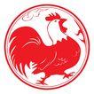 欢快节日0074,欢快节日,中国传统,红色 雄鸡 昂首