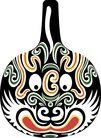 马勺脸谱0021,马勺脸谱,中国传统,脸谱 戏剧 唱戏
