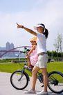 亲子休闲脚踏车0032,亲子休闲脚踏车,休闲,山地车 散心 在户外
