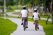 亲子休闲脚踏车0036,亲子休闲脚踏车,休闲,骑车 草地 路面