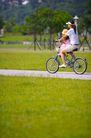 亲子休闲脚踏车0039,亲子休闲脚踏车,休闲,身影 车轮 单车
