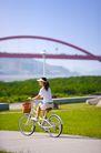 亲子休闲脚踏车0072,亲子休闲脚踏车,休闲,头戴 太阳帽 健身
