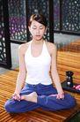 瑜伽休闲0055,瑜伽休闲,休闲,莲花坐姿 背伸直 闭目养神