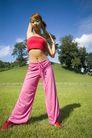 瑜伽运动0033,瑜伽运动,休闲,青草 草皮 站姿