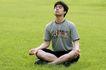 瑜伽运动0068,瑜伽运动,休闲,男孩 打坐 养性