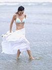 美丽海滩0035,美丽海滩,休闲,站在水里 内衣 裙子