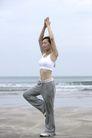 美丽海滩0036,美丽海滩,休闲,健身 瑜伽 单脚着地