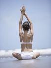 美丽海滩0037,美丽海滩,休闲,伸直手臂 直背 比基尼