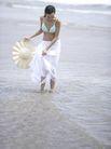 美丽海滩0057,美丽海滩,休闲,海滩 白纱裙 戏水